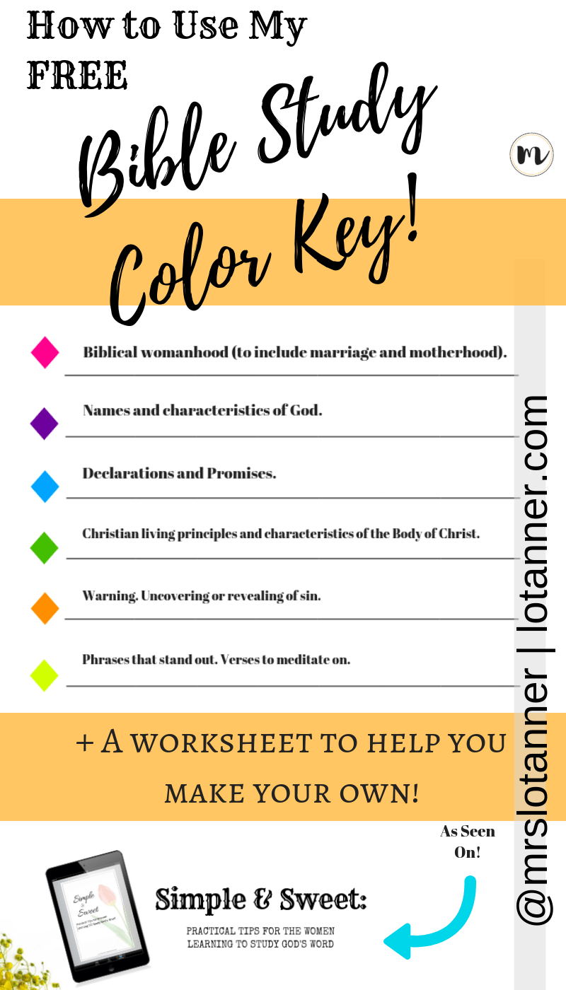 How I Color Code My Bible A Free Printout To Show You How