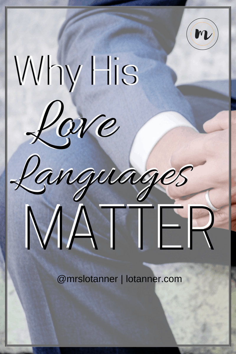 Why it pays to know your spouses love language plus a tool to help you pinpoint exactly what his love language is (and yours too). @mrslotanner