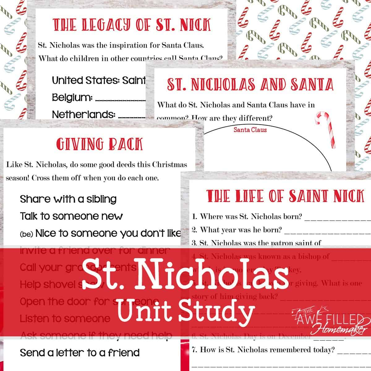 """Introduce your children to the true story of Saint Nicholas with the St. Nicholas Unit Study and """"Give Back"""" Challenge from Awefilled Homemaker. http://lotanner.com/saint-nicholas/ @mrslotanner"""