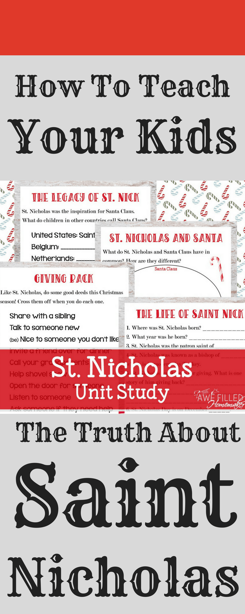 "Introduce your children to the true story of Saint Nicholas with the St. Nicholas Unit Study and ""Give Back"" Challenge from Awefilled Homemaker. http://lotanner.com/saint-nicholas/ @mrslotanner"