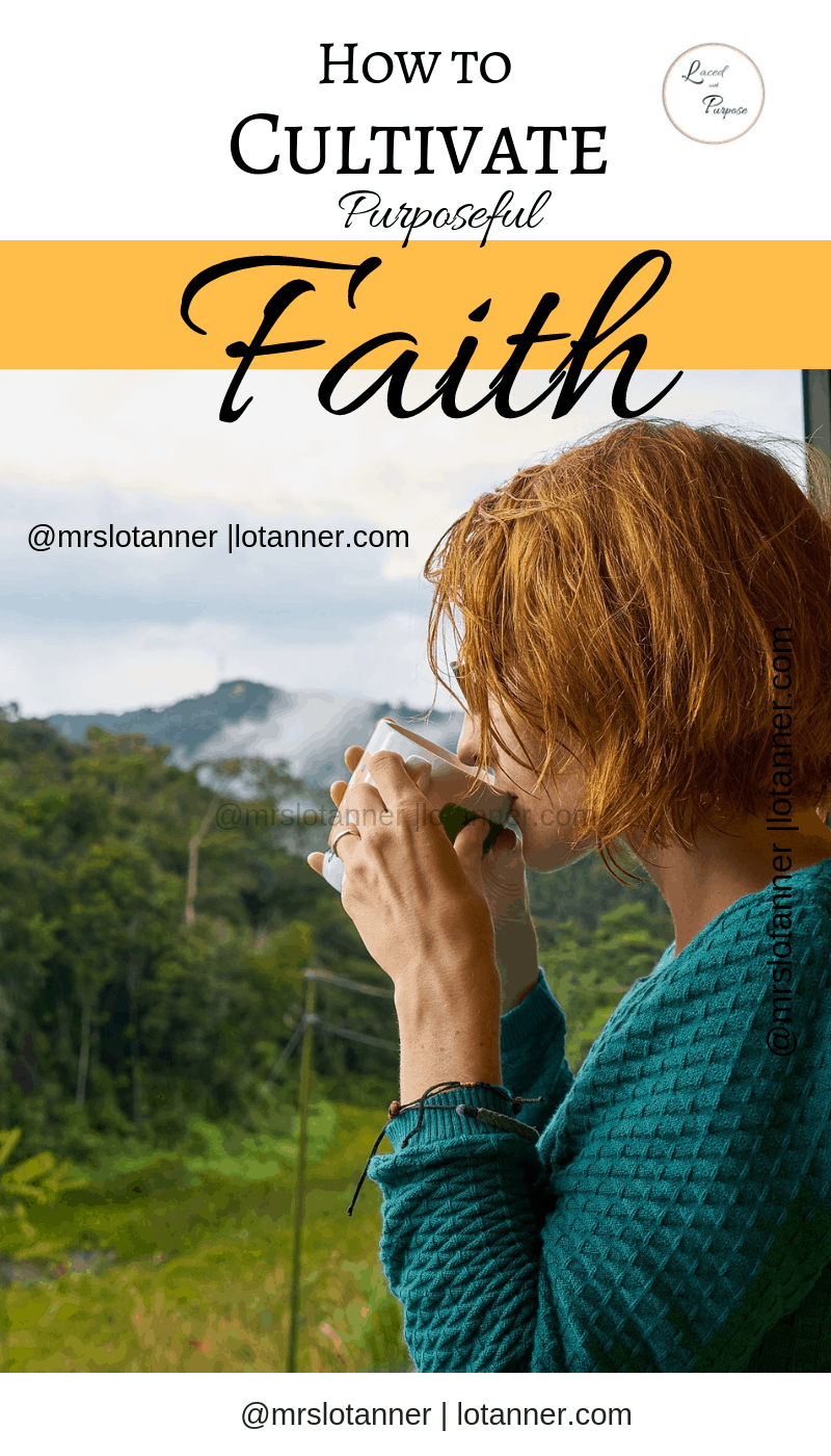 Living this life with purpose. 3 practical ways to cultivate purposeful faith. http://www.lotanner.com/purposeful-faith @mrslotanner