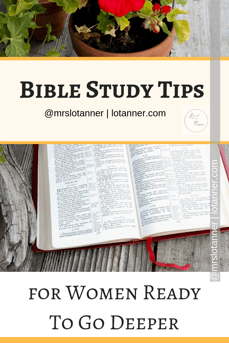 Everything you need to know about studying the Bible in ONE place. Time to go deeper! http://www.lotanner.com/dig-into-the-bible @mrslotanner #lacedwithpurpose