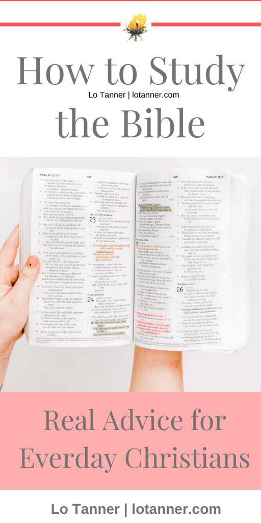 TONS of helpful Bible study tips and methods for women ready to DIG IN to the Bible. http://www.lotanner.com/dig-into-the-bible @mrslotanner #lacedwithpurpose