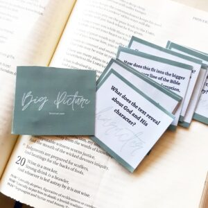 Big Picture Bible Study Prompts. @mrslotanner http://www.lotanner.com/products/big-picture-bible-study-prompts